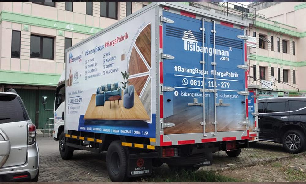 Branding Mobil Box Isi bangunan